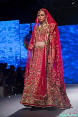 Heavy wedding lehenga with Zardozi Embroidery - Tarun Tahiliani - BMW India Bridal Fashion Week 2015