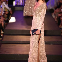 Ivory Gown with Heavy Embroidery & Sequin - Manish Malhotra - Amazon India Couture Week 2015