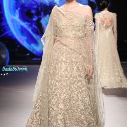 Ivory Resham Embroidered Lehenga with Blouse - Tarun Tahiliani - BMW India Bridal Fashion Week 2015