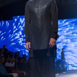 Men's Wear - Carbon Black Bandhgala Jacket, Black Velvet Kurta _ Black Pyjamas - Tarun Tahiliani - BMW India Bridal Fashion Week 2015