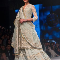 Pale Blue Embroidered kurta Lehenga - Tarun Tahiliani - BMW India Bridal Fashion Week 2015