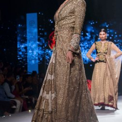 Printed lehenga Heavy Sequin Gold Long Jacket 2 - Tarun Tahiliani - BMW India Bridal Fashion Week 2015