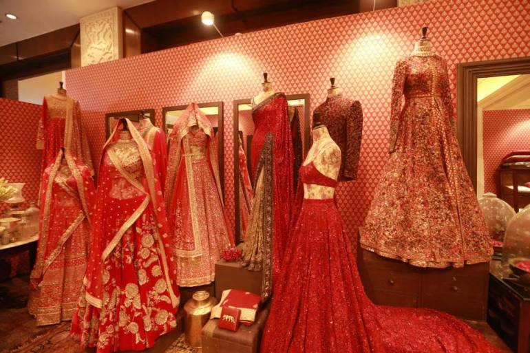 Sabyasachi - red bridal lehenga collection - Vogue Wedding Show 2015