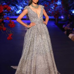 Sequin Silver Gown - Manish Malhotra - Amazon India Couture Week 2015