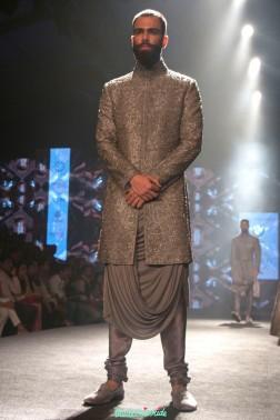 Shantanu and Nikhil - Men's Wear - Heavily Embroidered Metallic Silver Sherwani Jacket - BMW India Bridal Fashion Week 2015