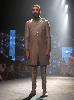 Shantanu and Nikhil - Men's Wear - Metallic Grey Bandhgala Jacket - BMW India Bridal Fashion Week 2015