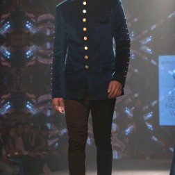 Shantanu and Nikhil - Men's Wear - Prussia Blue Bandhgala Jacket with Gold Buttons - BMW India Bridal Fashion Week 2015