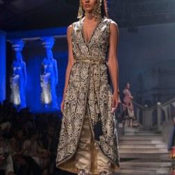 Suneet Varma - Gold & Blue Jacket With Pants - BMW India Bridal Fashion Week 2015