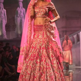 Suneet Varma - Heavily Embroidered Fuschia Pink Bridal Lehenga - BMW India Bridal Fashion Week 2015