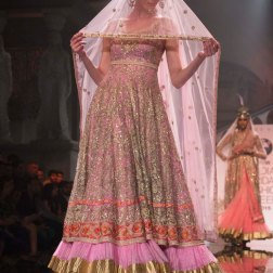 Suneet Varma - Heavily Embroidered Pink Kurta with Lehenga - BMW India Bridal Fashion Week 2015