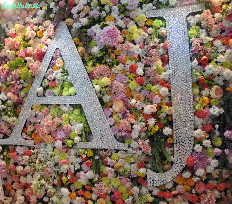 Swarovski - Floral Wall Decor 1 - Vogue Wedding Show 2015