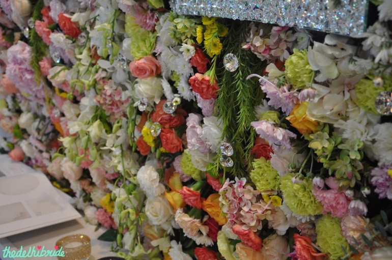 Swarovski - Floral Wall Decor 2 - Vogue Wedding Show 2015