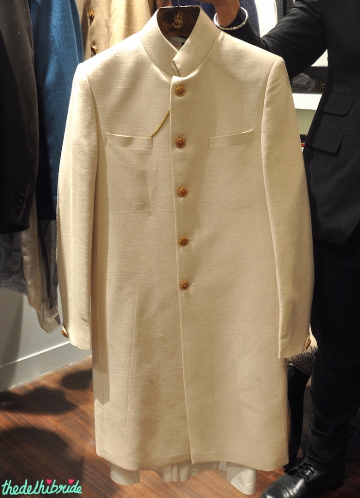 Tailormade - Cream Sherwani Jacket - Vogue Wedding Show 2015