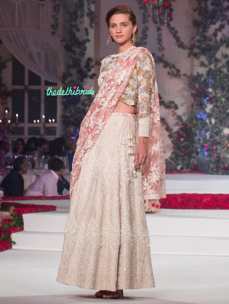 Top Pick Hand Embroidered White lehenga 2 - Varun Bahl - Amazon India Couture Week 2015