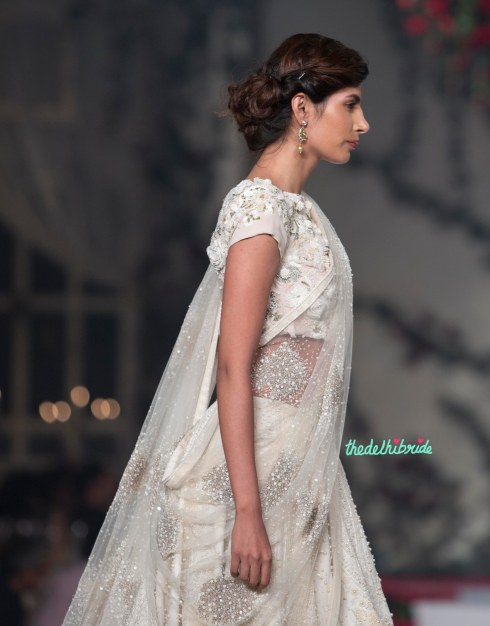 Top Pick Ivory floral lehenga with floral threadwork, pearls and beads detailing - with floral applique blouse 2 - Varun Bahl - Amazon India Couture Week 2015