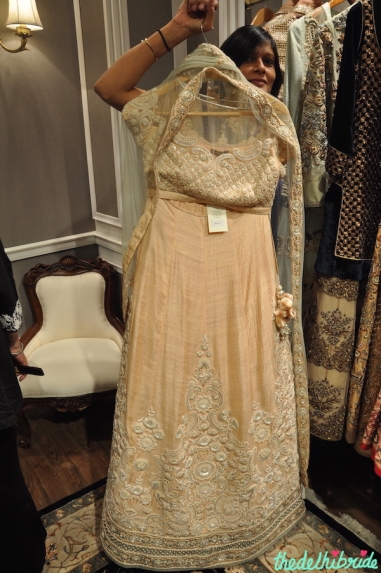 Vineet Bahl Premiere - Blush Pink Lehenga with Ivory Floral Embroidery - Vogue Wedding Show 2015