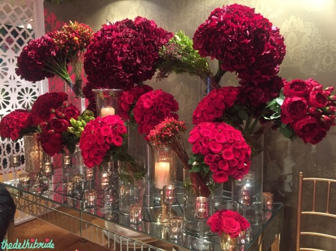 Wedding Design Company - Table Decor with red roses- Vogue Wedding Show 2015