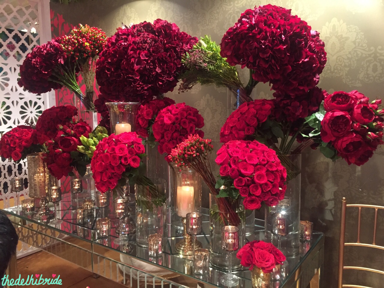 Wedding Design Company Table Decor With Red Roses Vogue Wedding