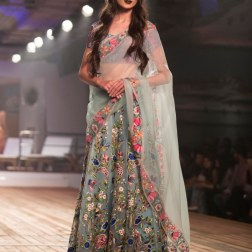 Winter Sky 3D Floral Aplique Lehenga - Monisha Jaising - Amazon India Couture Week 2015 .jpg