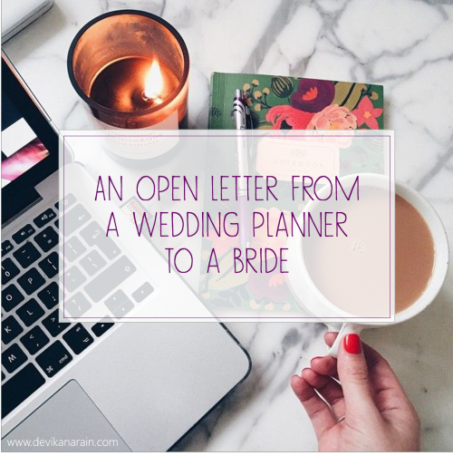 Advice from a wedding consultant and wedding planner to brides to stay calm and how to enjoy your own wedding - Best of weddings this week
