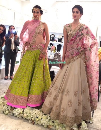 Models in Anushree Reddy (the ivory lehenga that was our favourite at LFW!)