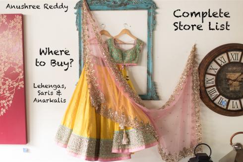 Anushree Reddy Store List Complete