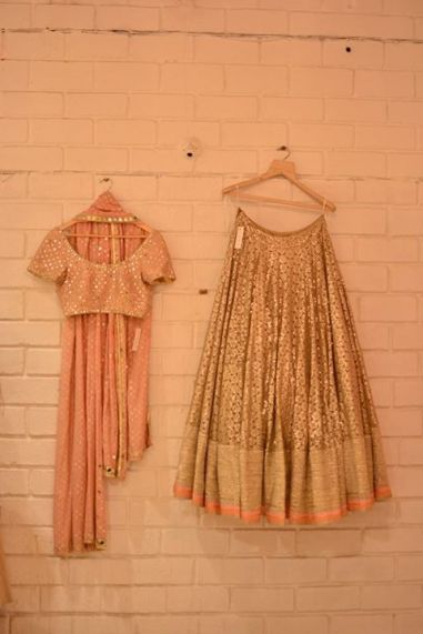 Day Wedding in this gold lehenga? Yes?