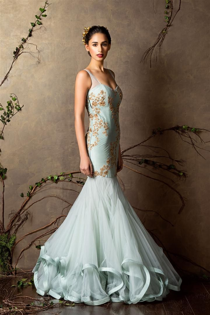 148d232902 Pale blue mermaid gown - Shyamal and Bhumika New Collection 2015 - A Little  Romance -