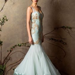 Pale blue mermaid gown - Shyamal and Bhumika New Collection 2015 - A Little Romance - Autummn-Winter Collection 2015