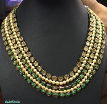 Pearls and kundan strings necklace - Neety Singh - store visit