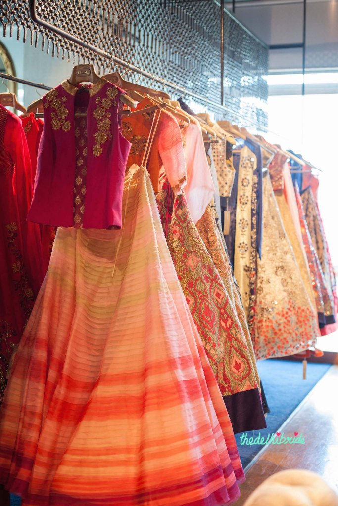 Pink and peach outfits at JADE - New JADE M&K Couture Studio - Mumbai Review