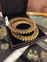 Polki bangles in gold with meenakari work - Neety Singh - store visit