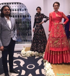 Models in Rahul Mishra, with Rahul Mishra :)