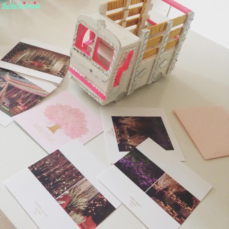 Rani Pink invite - Theme Decor - Event Decor - Wedding Decor - Rani Pink