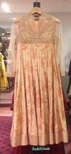 A floral anarkali at Ritu Kumar