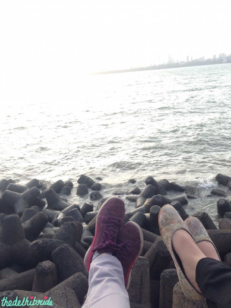 Seaside at Marine Drive - Trip to Mumbai