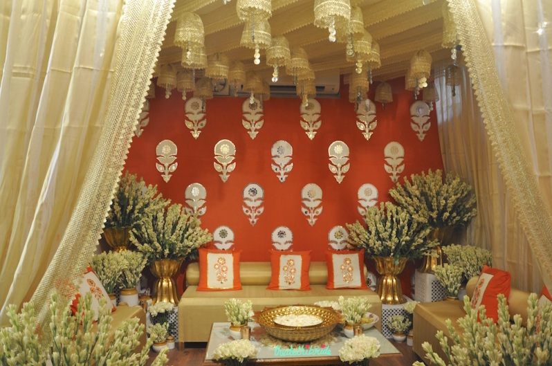 The Tamarind Courtyard - Jaipuri Haveli Decor - Event Decor - Orange and Gold - Wedding Decor - Rani Pink