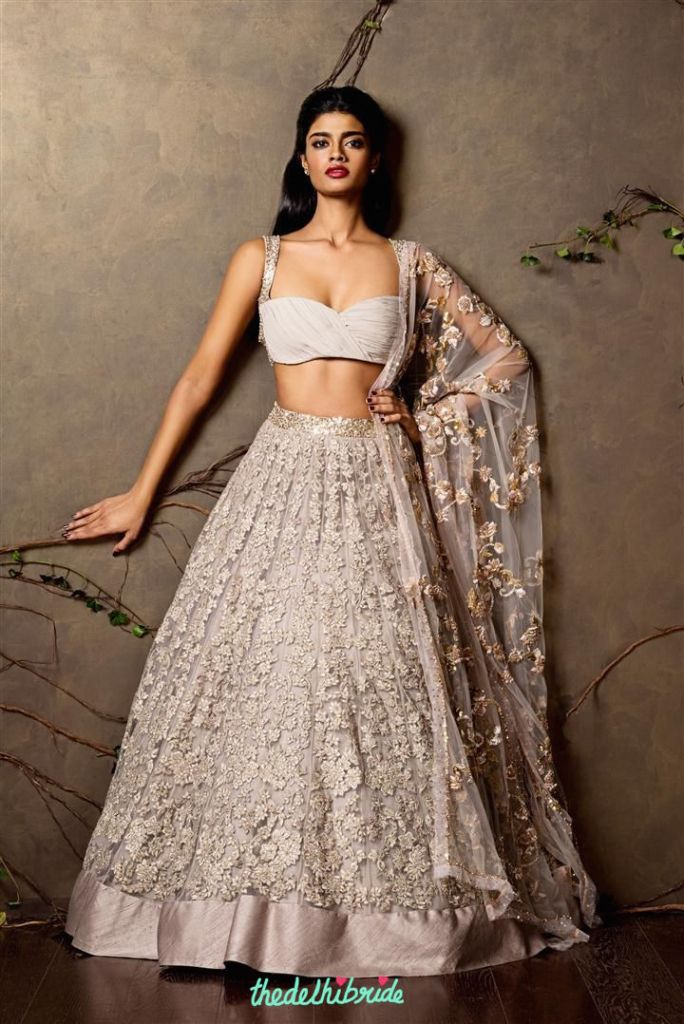 Top Picks Lehenga with heavy 3d floral embroidery - Shyamal and Bhumika New Collection 2015 - A Little Romance - Autummn-Winter Collection 2015