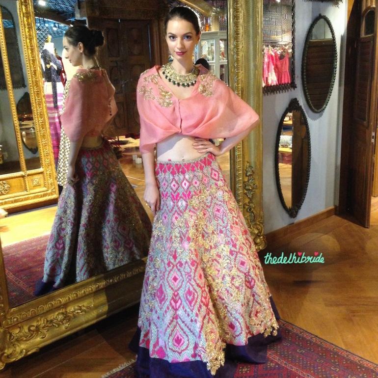 Unique blouse styles - pink drape style blouse - JADE's M&K Couture Studio - Trousseau destination visit