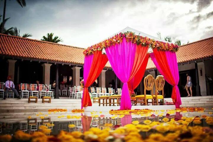 Wedding mandap - Wedding decor - Wedding planning tips for destination wedding in Thailand