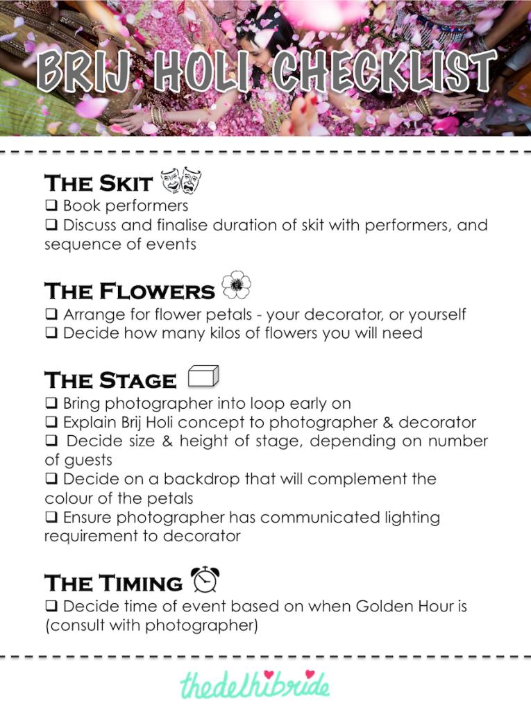 How to organize a Brij Holi at a wedding