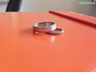 Tanishq platinum rings
