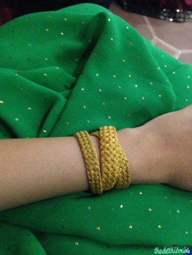 Tarun Jain Italian design gold necklace worn as a bracelet