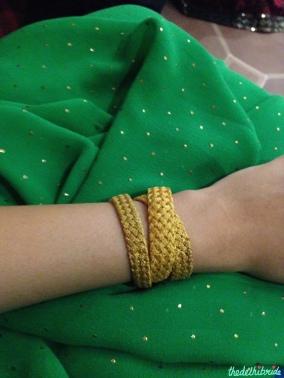 Tarun Jain Italian design gold necklace worn as a bracelet