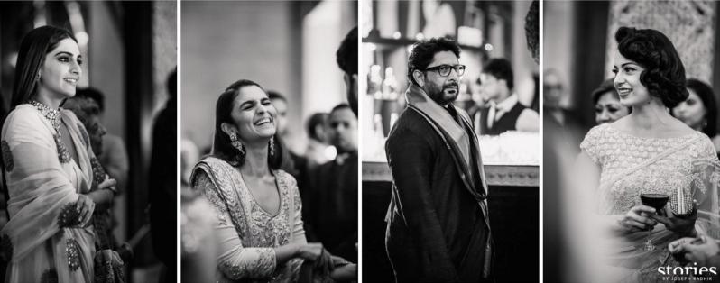 Candid shots - celebrity guests at Reception - Alia Bhatt, Sonam Kapoor, Arshad Warsi and Kangana Ranaut - Masaba Gupta and Madhu Mantena wedding 2015
