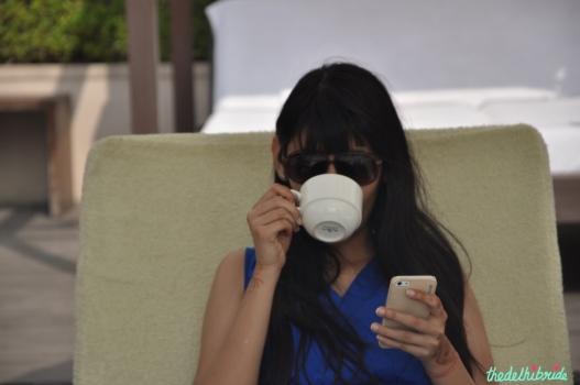 And drinking masala chai