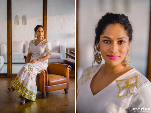 Mehendi - Bridal portrait - Masaba Gupta and Madhu Mantena wedding 2015