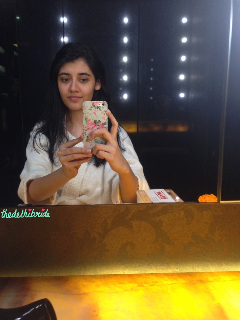 Spa selfie | Pre-Bridal Treatment at Zehen Spa Review | thedelhibride Indian wedding blog
