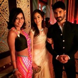 Wedding guest style - Reception - Mira Rajpur with Miss Malini and Shahid Kapoor - Masaba Gupta and Madhu Mantena Wedding 2015