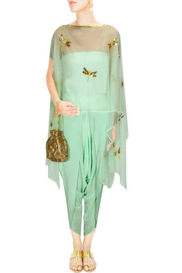 Cape dhoti pants - Ayinat by Taniya O'Connor - What to wear to an Indian wedding